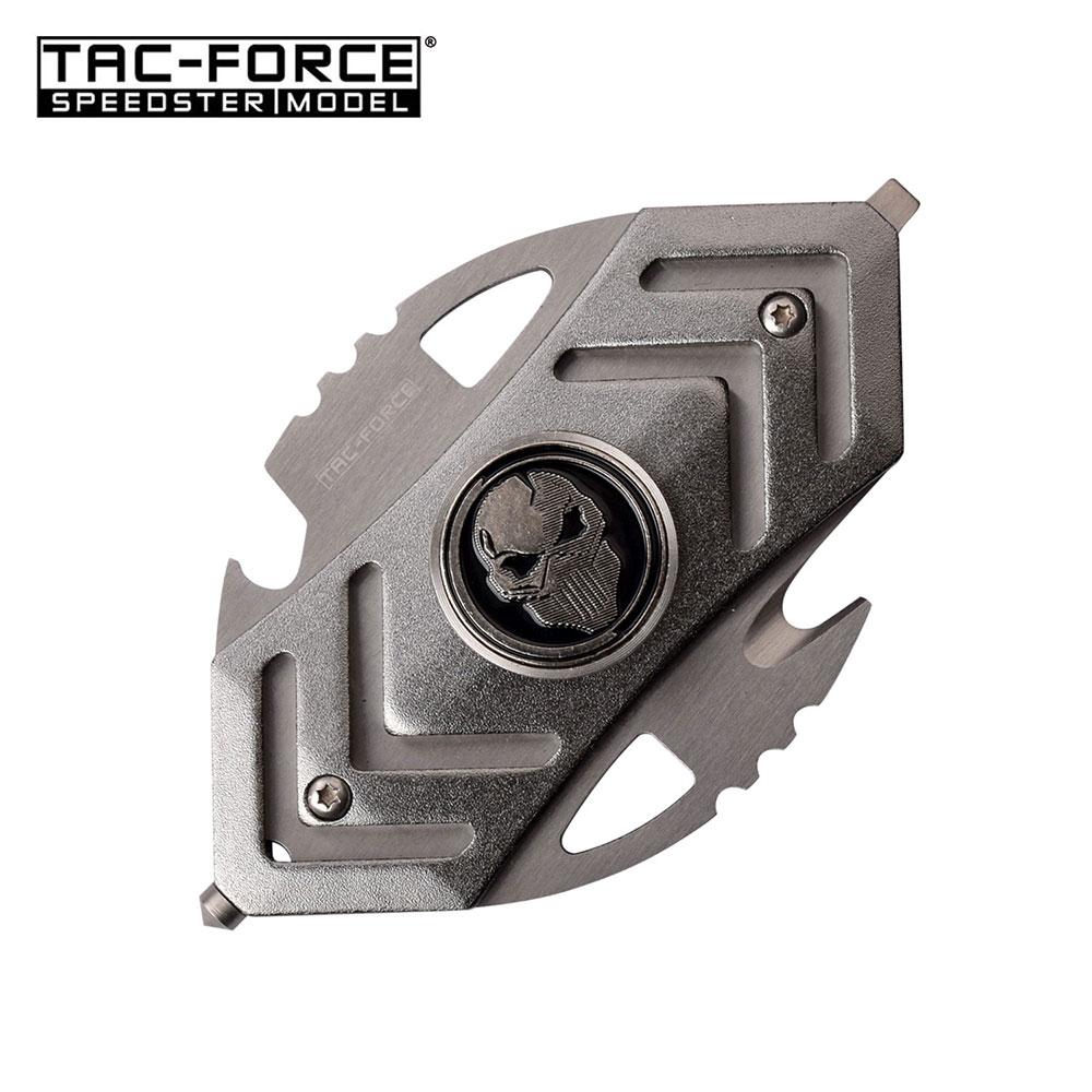 Fidget Spinner Gray Multi-Tool Tactical Bottle Opener, Glass Breaker, Cutter