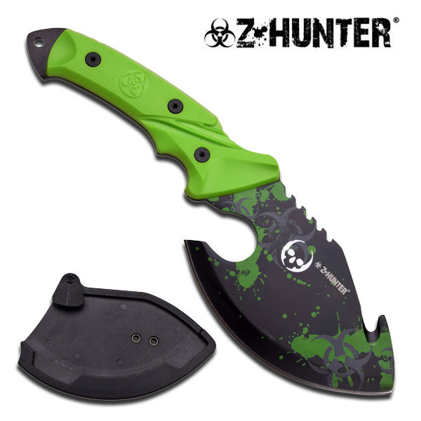 Z-Hunter Zombie Cleaver Survival Knife-Axe Hybrid W/ Hard Slim Sheath