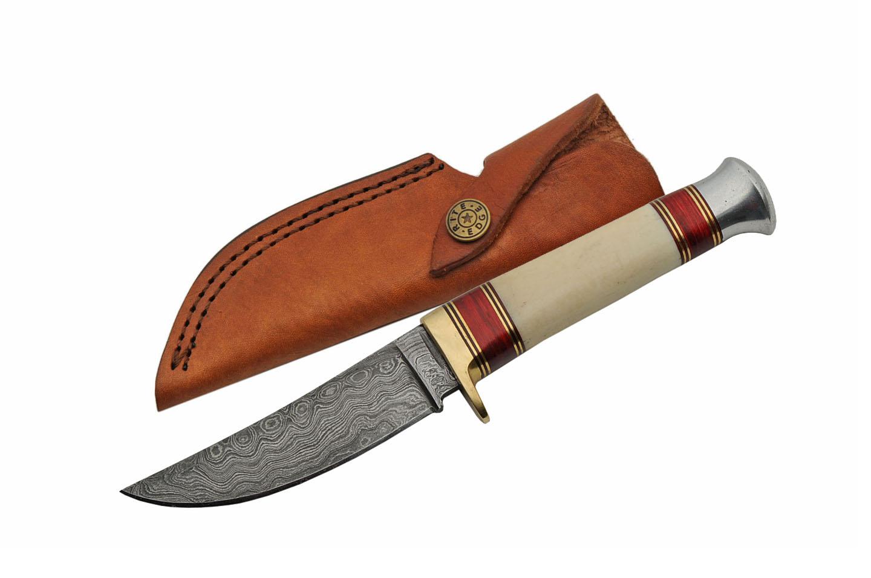 Damascus Steel Blade Hunting Knife | 9