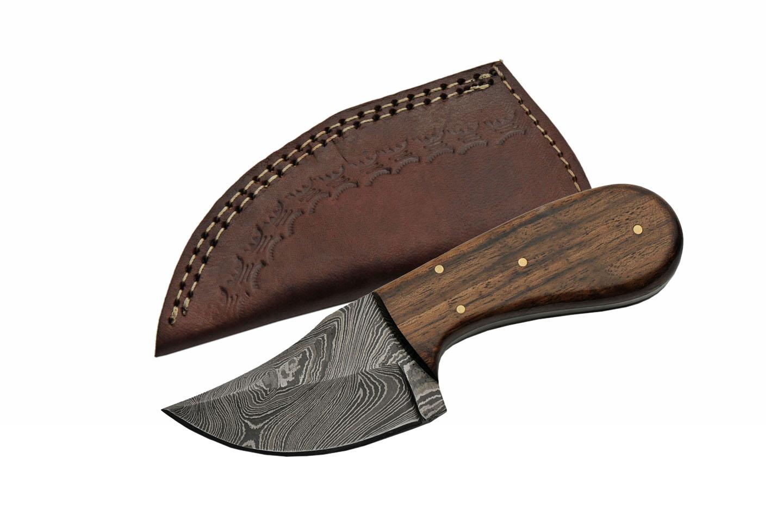 Hunting Knife Damascus Steel Blade Full Tang Skinner 6