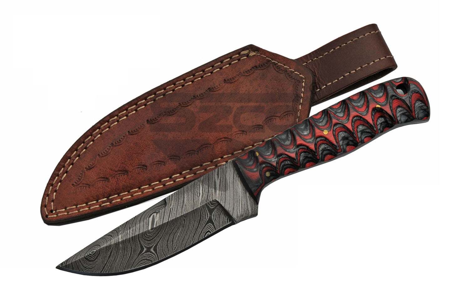 Fixed Blade Hunting Knife | Damascus Steel 8