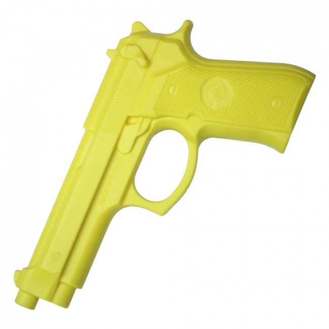 "Martial Arts Training Weapon | 9"" Polypropylene Prop Handgun Pistol - Yellow"