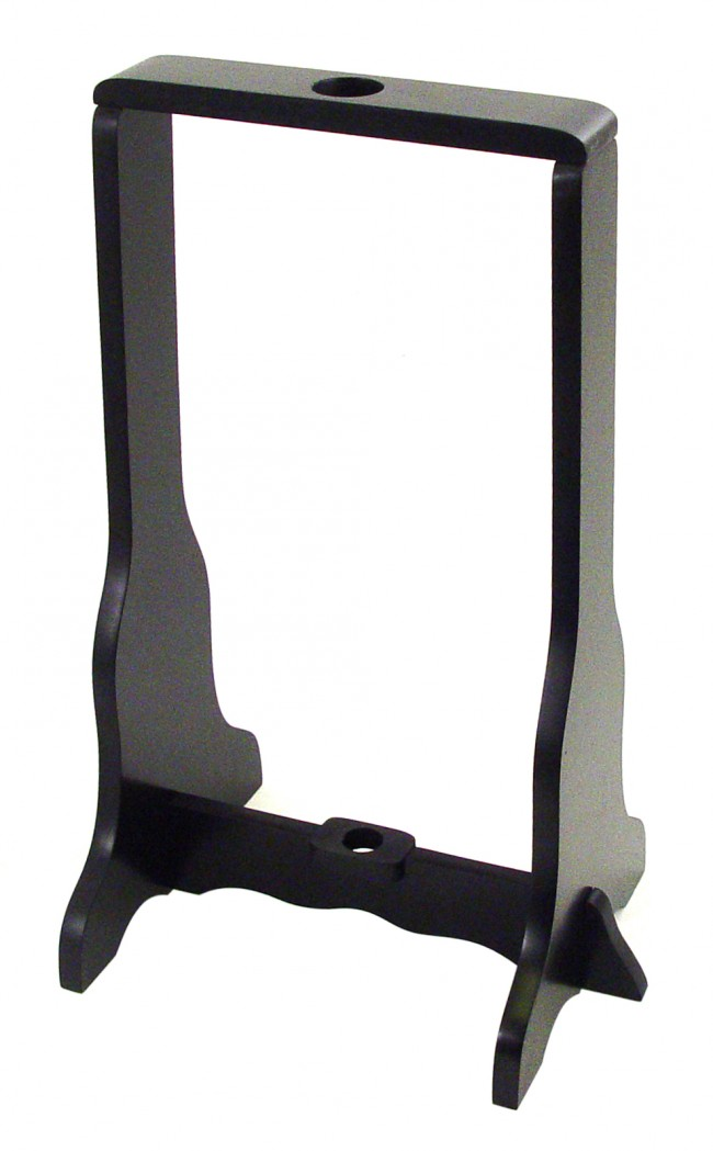 Universal Katana Stand | Black Wood Single Sword Upright Display