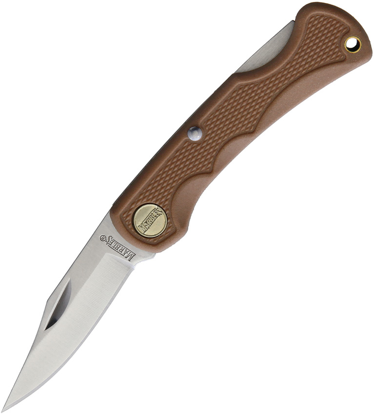 "Folding Knife | Marbles Stainless Steel 3.75"" Blade Small Lockback - Tan"