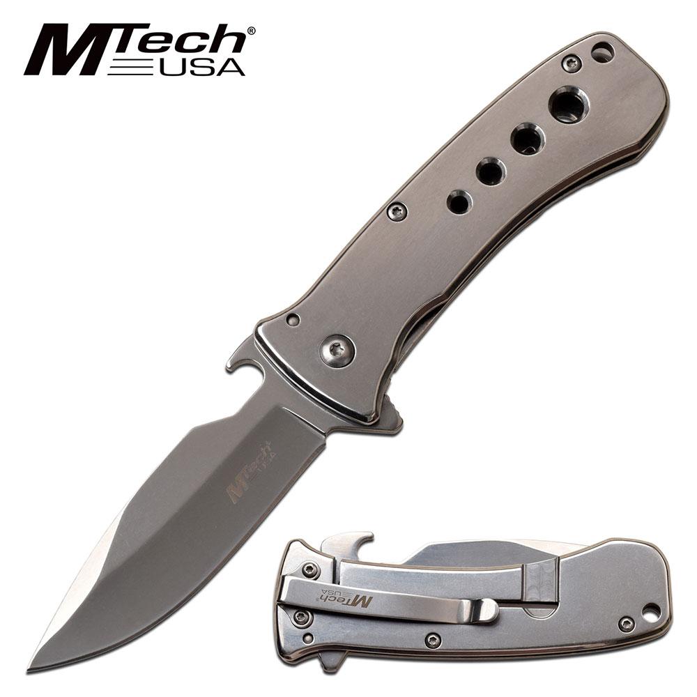 Spring-Assist Folding Knife   Mtech Mirror Chrome 3