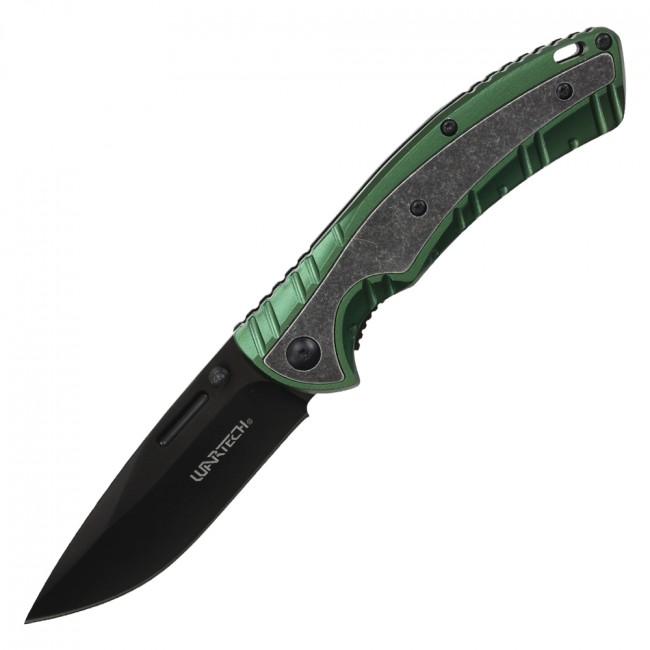 Spring-Assisted Folding Knife Wartech Black 3.25