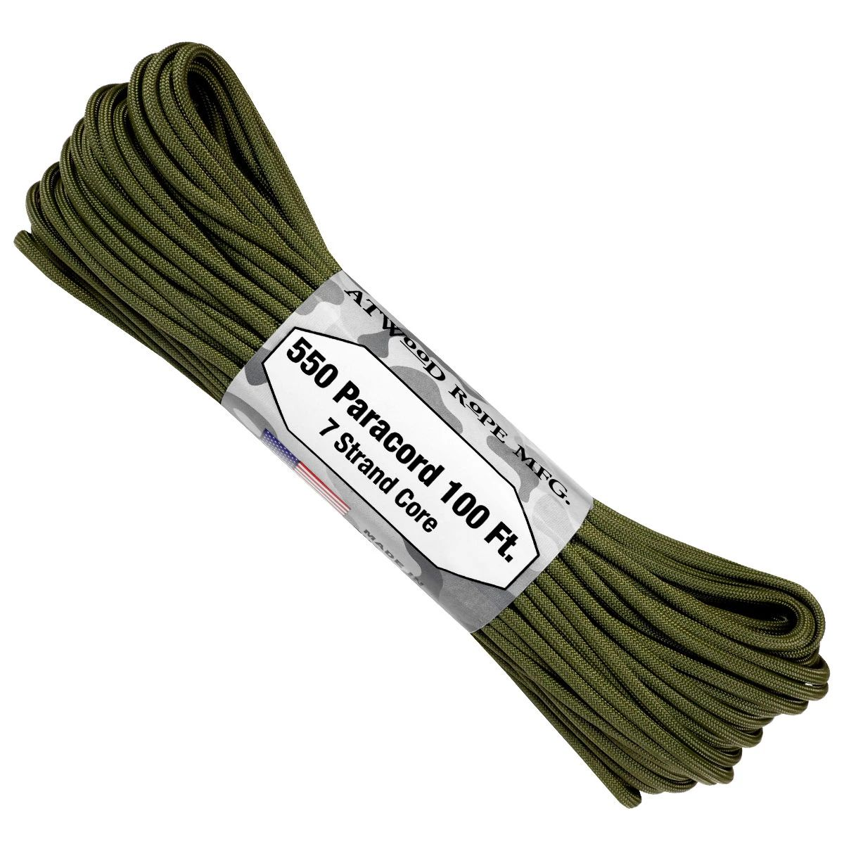 550 Paracord - 100ft - Olive Drab - Made in USA