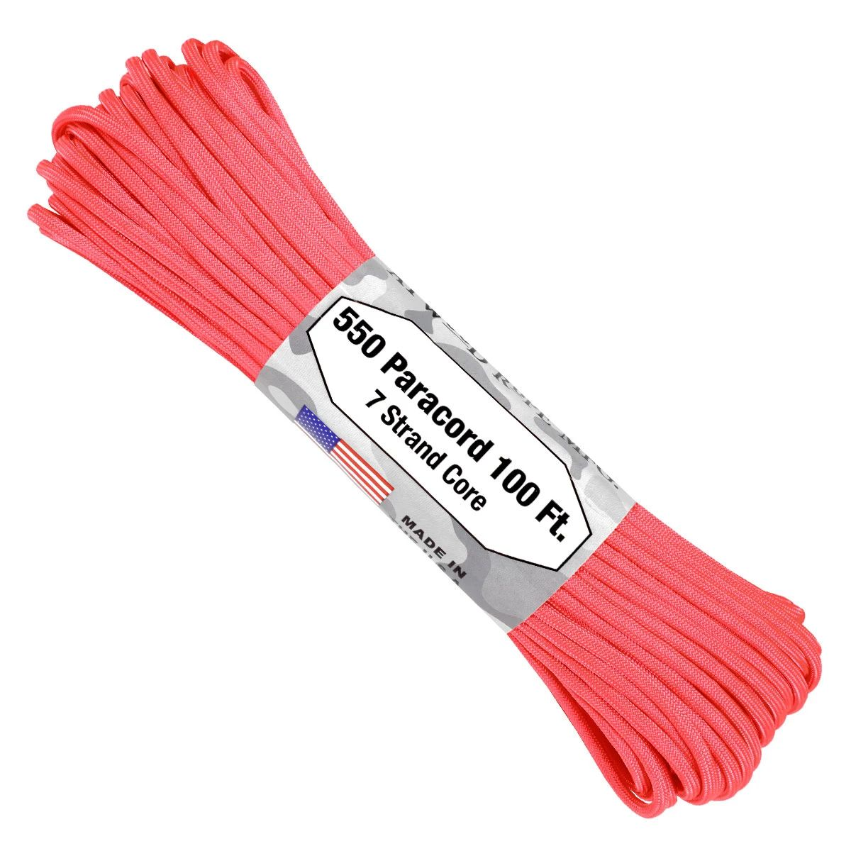 550 Paracord - 100ft - Pink - Made in USA