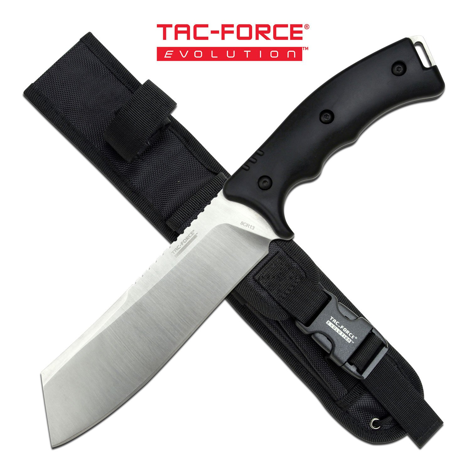 "Tactical Knife | 6.5"" Tanto Blade Tac-Force Evolution Military Tactical + Sheath"
