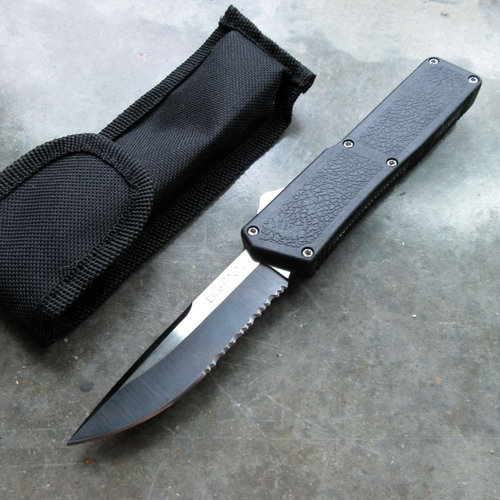 Out-The-Front Automatic Knife Lightning Otf Black 3.2