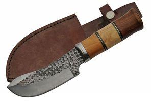 Hunting Knife   Carbon Steel Blade Wood Handle Skinner 10