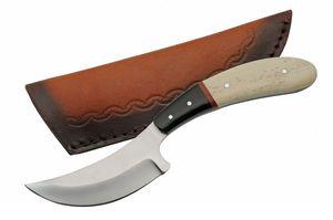 Hunting Knife | Birdwing Full Tang Skinner White Bone Handle + Leather Sheath