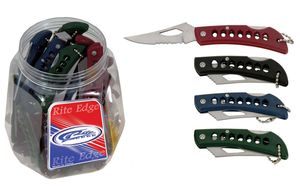 Folding Knife Set Mini 60 Piece Assorted Color Eagle Eye Folding Blade Keychains