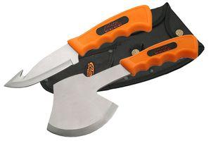 High-Visibility Orange Gur Hook Hunting Knife & Camping Hatchet Survival Set
