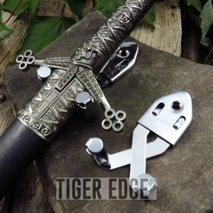 SWORD WALL HANGER | Low Cost Silver Wall Mount Display for Swords and Knives