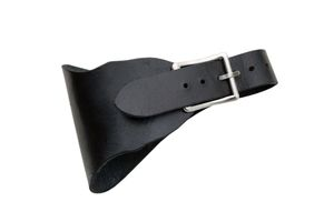 Dirk Frog | Black Leather Medieval Knife/Dagger Belt Holster Costume Prop