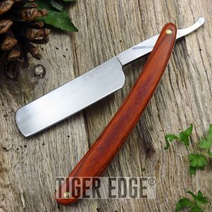 Straight Razor | Brown Wood Barber Shaving Folding Knife 210728