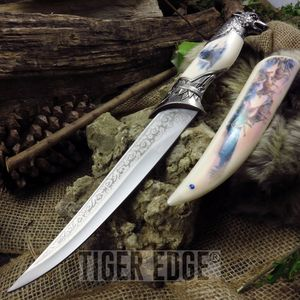 FIXED-BLADE DECORATIVE KNIFE | Wolf Pack 13.5