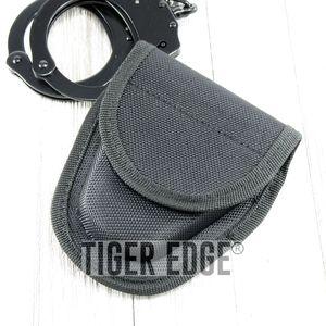 HANDCUFF SHEATH | Standard Size Black Hard Boxed Nylon Velcro Hand Cuff Case