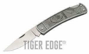 FOLDING POCKET KNIFE | 4.5'' Gray Eagle Mirror Finish Stainless Blade Lockback