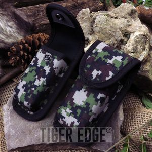 Folding Pocket Knife Sheath | Rite Edge Digital Camo Nylon Heavy Duty Snap Button