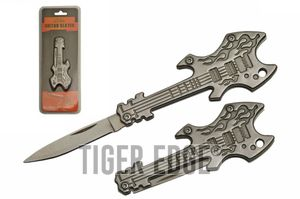 Mini Electric Guitar Keychain Folding Knife | 2