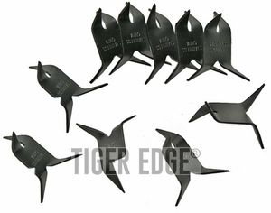 NINJA CALTROPS Functional Black Iron Spike Tactical MAKIBISHI TETSUBISHI 10 Pack