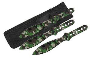 Throwing Knife Set | 3-Pc. Camo Stainless Steel Spear Point 6