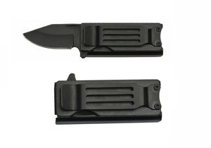 Folding Pocket Knife | Lighter Holder Money Clip Folder Aluminum Black 211456
