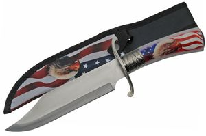 Fixed Blade Knife | America Usa Hunting Bowie Eagle Father'S Day Gift 211457-Eg