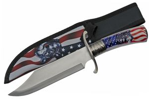 Fixed Blade Knife | America Usa Hunting Bowie Wolf Father'S Day Gift 211457-Wf