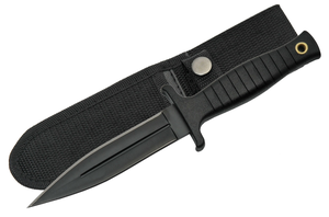 Fixed Blade Knife | Tactical Black Boot Dagger Clip Sheath Edc Safety 211459-Bk