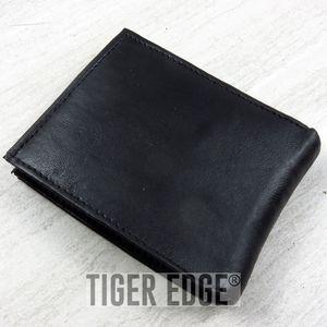 Black Genuine Leather Bifold Wallet