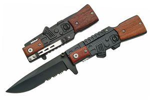 Spring-Assist Folding Knife | Serrated Blade 4.5