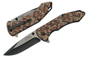 Spring-Assist Folding Knife | Rite Edge Snakeskin Print 3.5