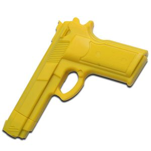 MARTIAL ARTS TRAINING | Yellow Rubber Combat Training Pistol Gun 7