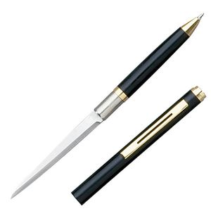 Pen Knife | Hidden Plain Blade Functional Ink Pen Letter Opener Black