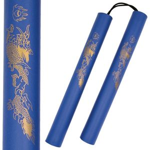 Lightweight Blue Foam Nunchucks Padded Training Costume Cosplay Ninja