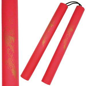 Lightweight Red Foam Nunchucks Padded Training Costume Cosplay Ninja