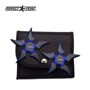 THROWING STAR SET | Perfect Point 2 Pc Blue Cord Blade 5 Point Ninja Shuriken