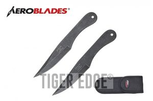 Throwing Knife Set | Aeroblades 2-Pc. Gray Stone Blade 7.5