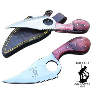 Hunting Knife | Bone Collector Cat Skinner Red Bone Handle Full Tang + Sheath