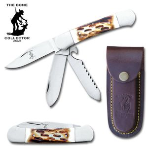Folding Pocket Knife | Bone Collector Classic 3 Blade 5