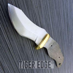 Fixed-Blade Blank   Stainless Steel, Brass Guard   Hunting Skinner Knifemaker