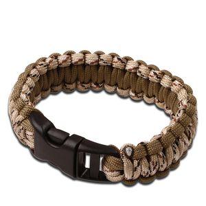 Desert Camo Paracord Survival Bracelet 300 Lb., 7