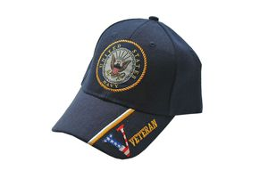 US Navy Veteran Blue Baseball Cap - One Size Fits All