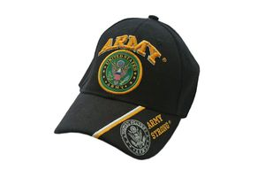 Us Army Strong Black Baseball Cap - One Size Fits All