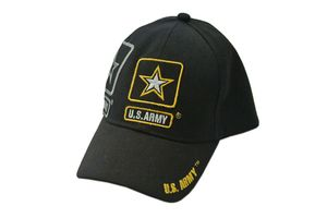 US Army Strong Star Black Baseball Cap - One Size Fits All