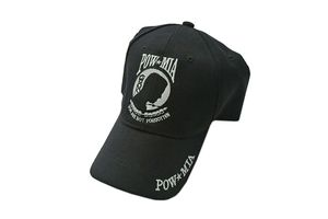 POW MIA Black Baseball Hat Cap - One Size Fits All
