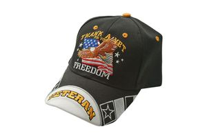 Thank a Vet for your Freedom' US Military Veteran Baseball Cap